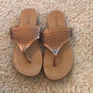 Serra Rose Gold sandals